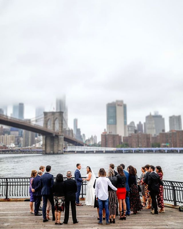 Our ceremonies take place all over New York! Here is a shot from Lauren and Daniel's wedding in Brooklyn Bridge Park! Congratulations! #brooklynbridgepark #brooklynbridge #dumbo #janescarousel #skyline #weddingphotographer #wedding #weddingplannernyc #elopement #newyorkelopement #newyork #weddinginspo #newyorkdreamweddings #harleyhall #elopenyc #lighting #newyork #love #elope #creative #weddings #nywedding #harleyhallphotography #tourists #instawedding #weddingportrait #pix11news #huffpostido #huffpostweddings
