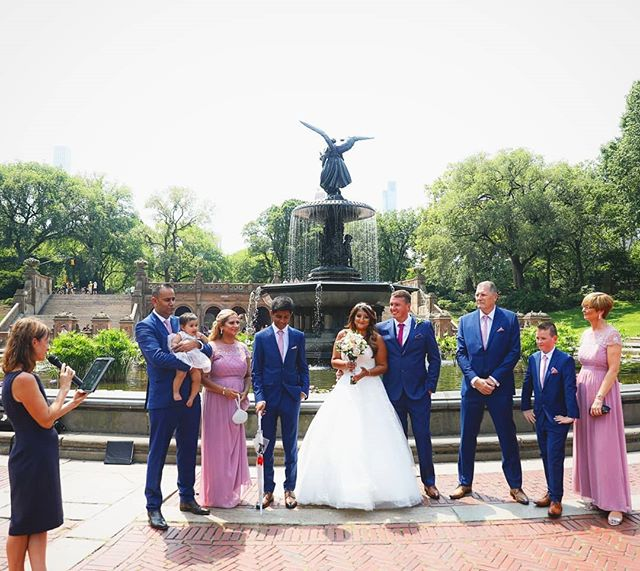 Central Park is filled with amazing locations to have the wedding ceremony. This is behind Bethesda Fountain on the hottest day of the year. I would suggest spring or fall for this location;) #bethesdafountain #summerwedding #centralpark #weddingphotographer #wedding #weddingplannernyc #elopement #newyorkelopement #newyork #weddinginspo #newyorkdreamweddings #harleyhall #elopenyc #weddingphotography #weddingceremony #newyork #elope #creative #weddings #nywedding #harleyhallphotography #ukweddings #Ukbride #love #instawedding #centralpark #centralparkwedding