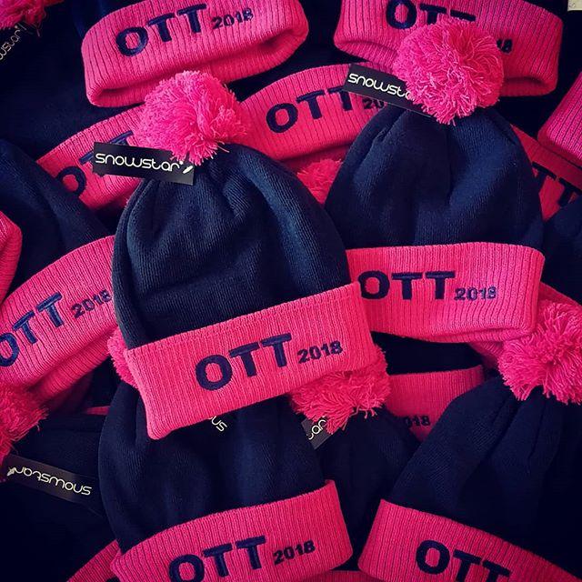 Lots of bobble hats embroidered for Ten Tors this weekend #bobblehat #embroidery #okehampton #dartmoor #tentors #roarclothinguk