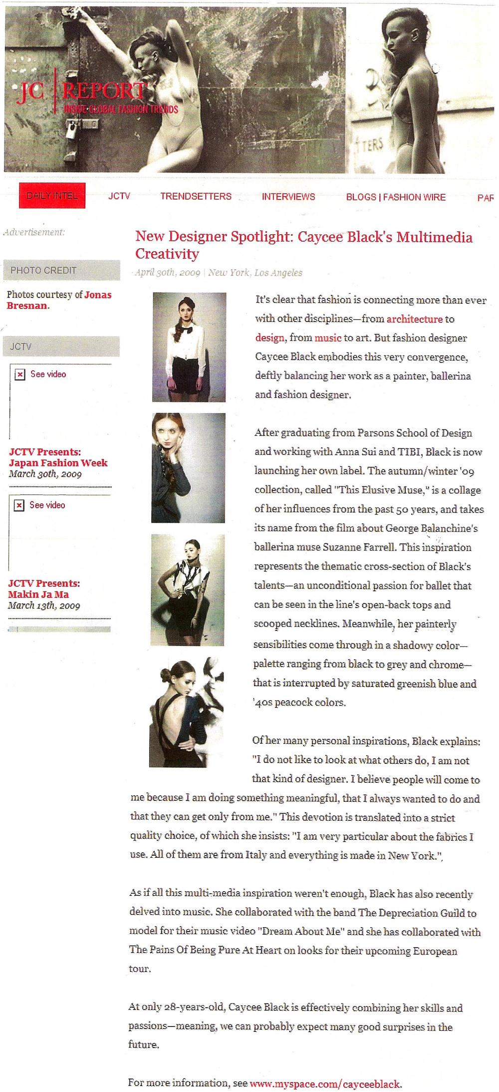 New Designer Spotlight - Caycee Black