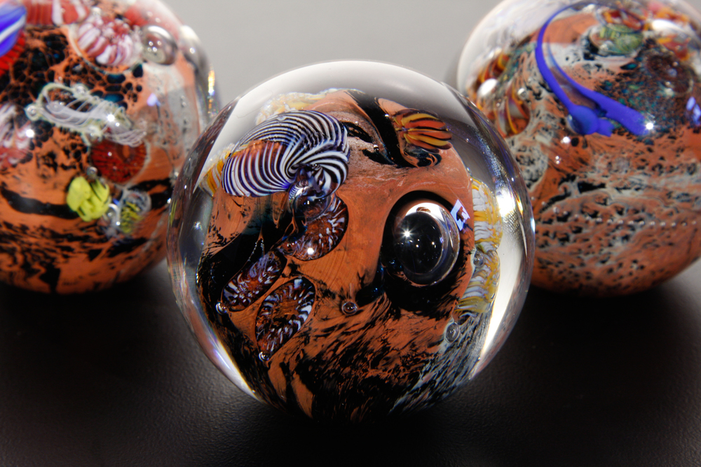 Red New Mexico Planet Paperweights