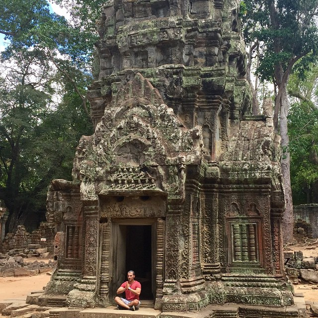 Gettin my meditation on!! You can feel the spirituality in this place. Truly one of the most amazing places I've ever seen. #zen #buddha #beautiful #taprohm #indianajones #tombraider #Cambodia