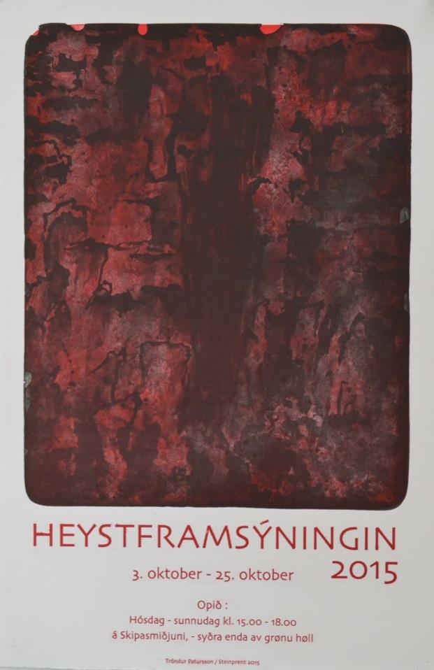 Flotta plakatin, sum Tróndur Patursson gjørdi til heystframsýningina