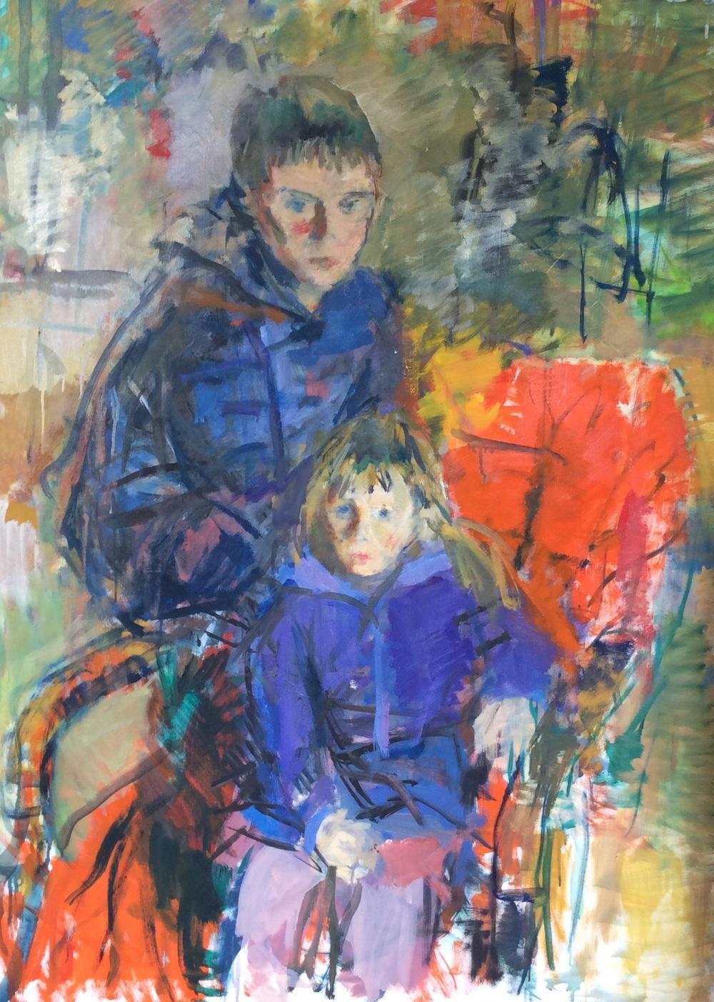 Portrett av tveimum børnum