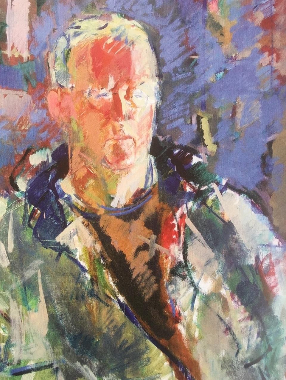Torbjørn Olsen málaði portrettmyndina av Erik Fey