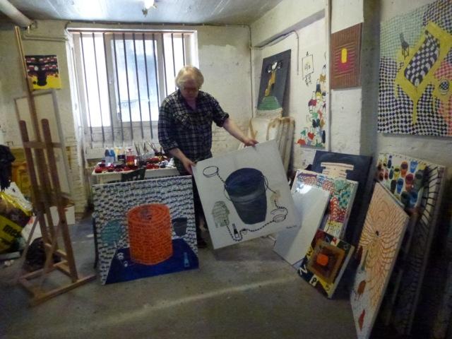 Tóroddur Poulsen in his studio in copenhagen