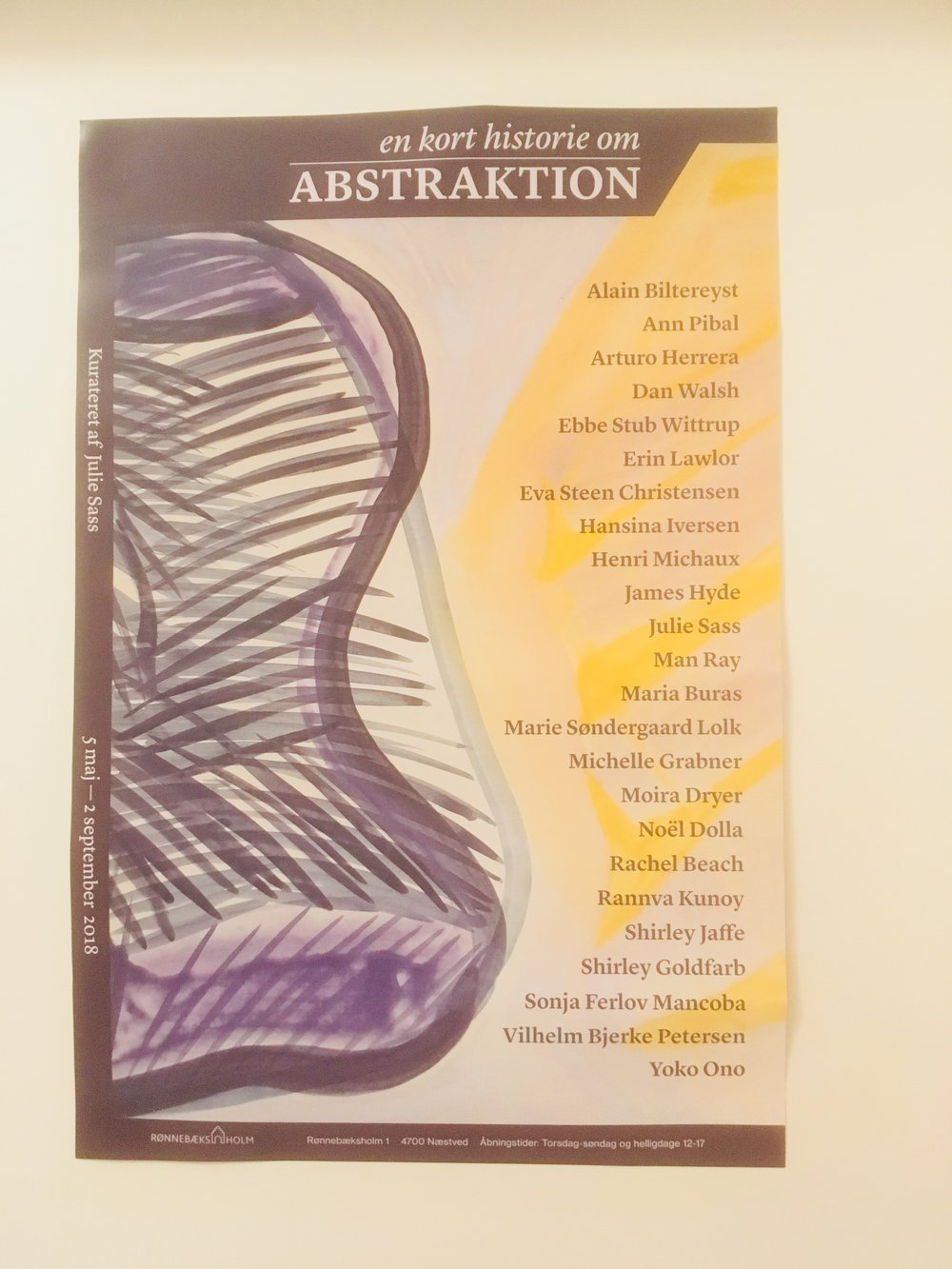 Plakat En kort historie om abstraktion Foto Kinna Poulsen