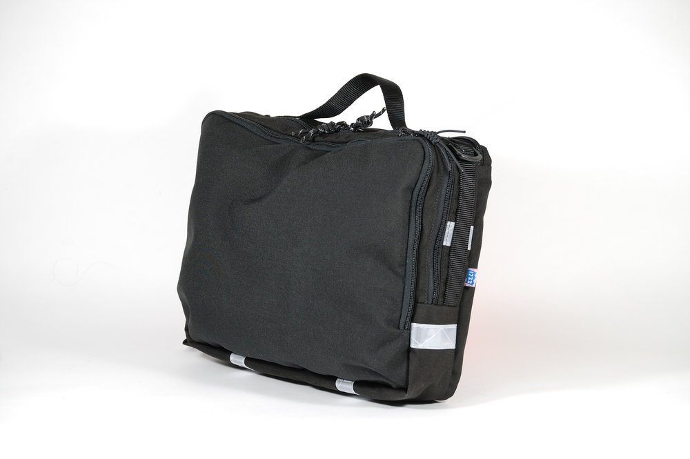 1000D Cordura briefcase with rear bike rack attachment