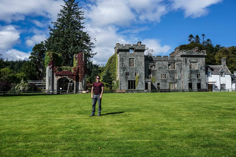 Armadale Castle (and happy Travis)
