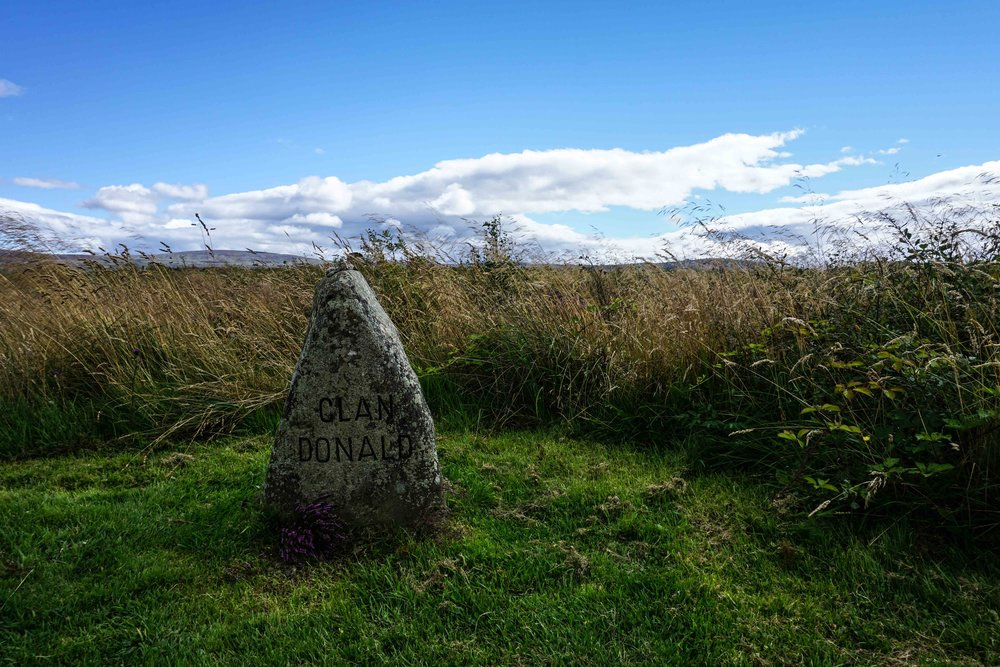 Donald stone at Culloden battlefield.