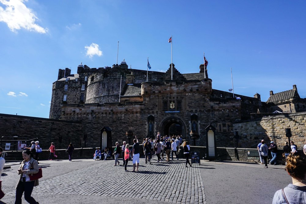 Edinburgh Castle (weirdly with the stadium right in front of it)