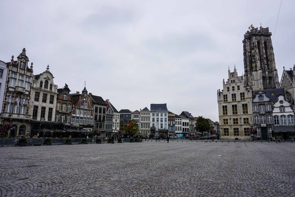 Mechelen city center square