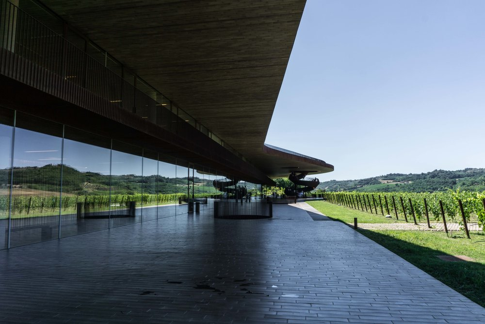 Antinori Winery (one of the most famous winery in the world, due to its architecture)