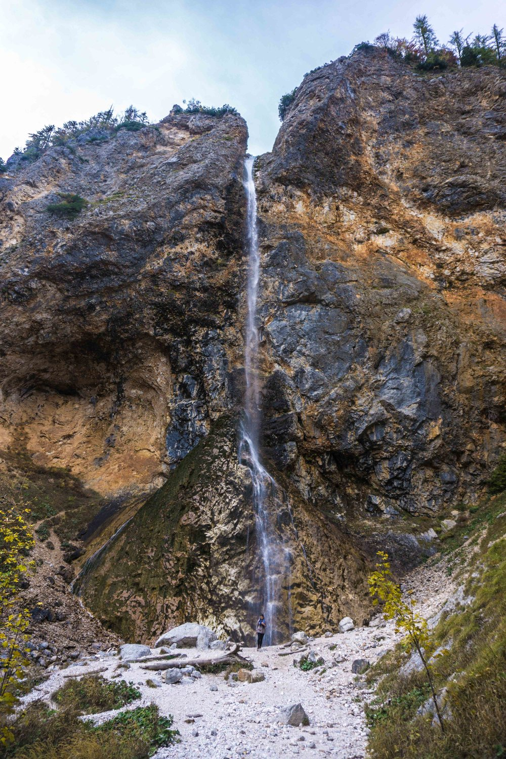 Rinka Waterfall (see me at the bottom for scale)
