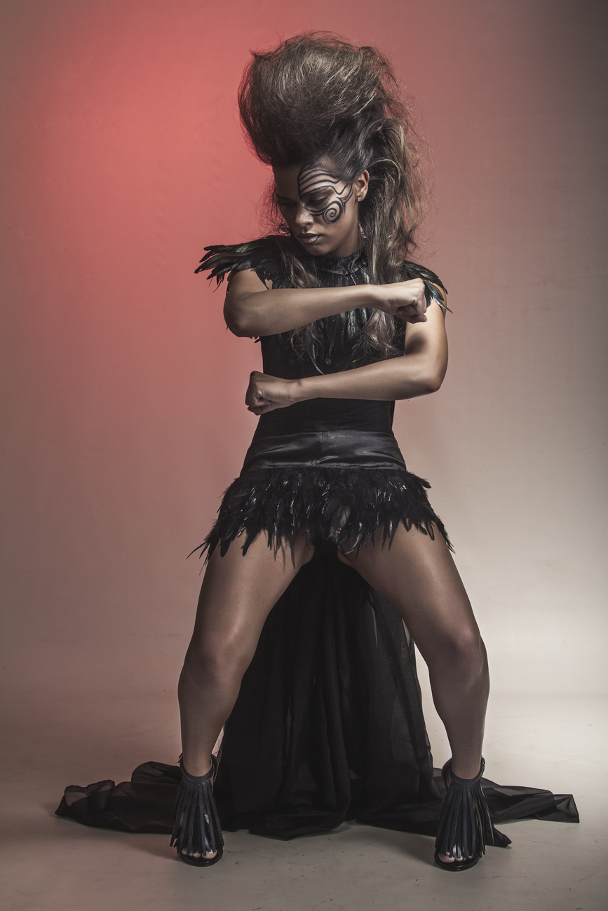 Kia kaha! - For this editorial, the theme was Maori tradition and to