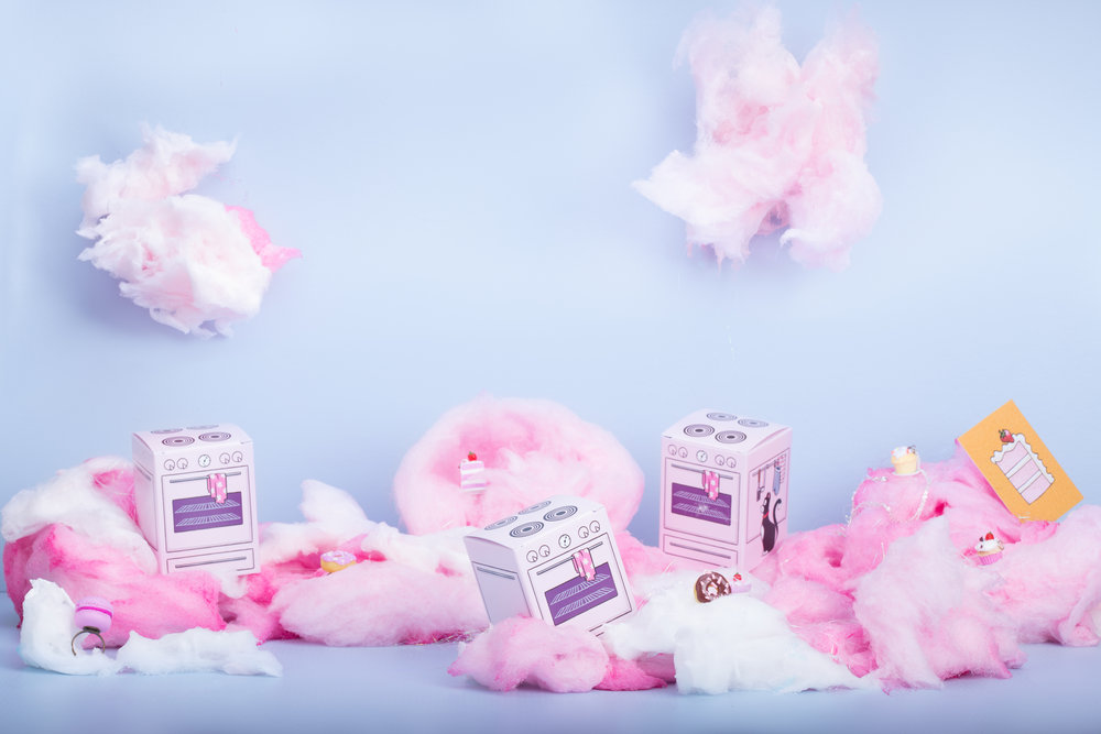 Candyfloss clouds and cake jewellery