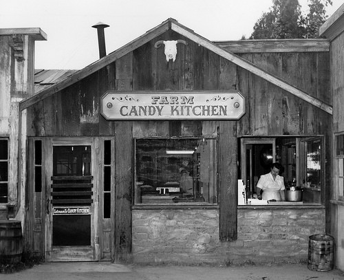 Candy Kitchen, Knott's Berry Farm, circa 1957  Photo courtesy Orange County Archives