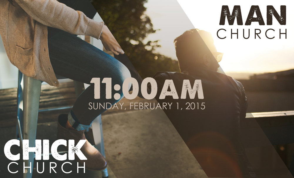 This Sunday, February 1, we will not have 8:45am service.  Instead we will have 2 special services at 11am.  Men will meet at The Porch (1906 W Fair) for M