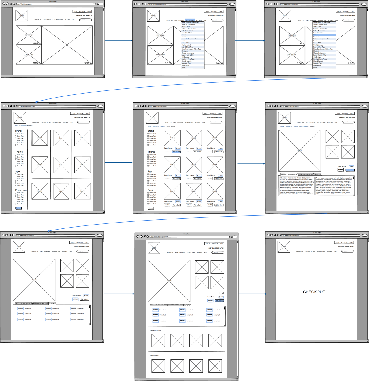 Project 2: Wireframing - attempt 1   balsamiq