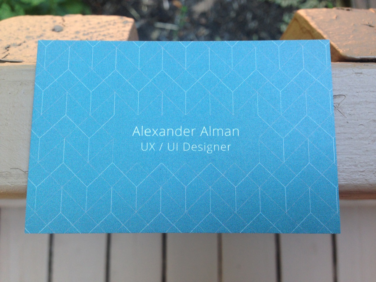 My UX / UI Designer business cards just came in.