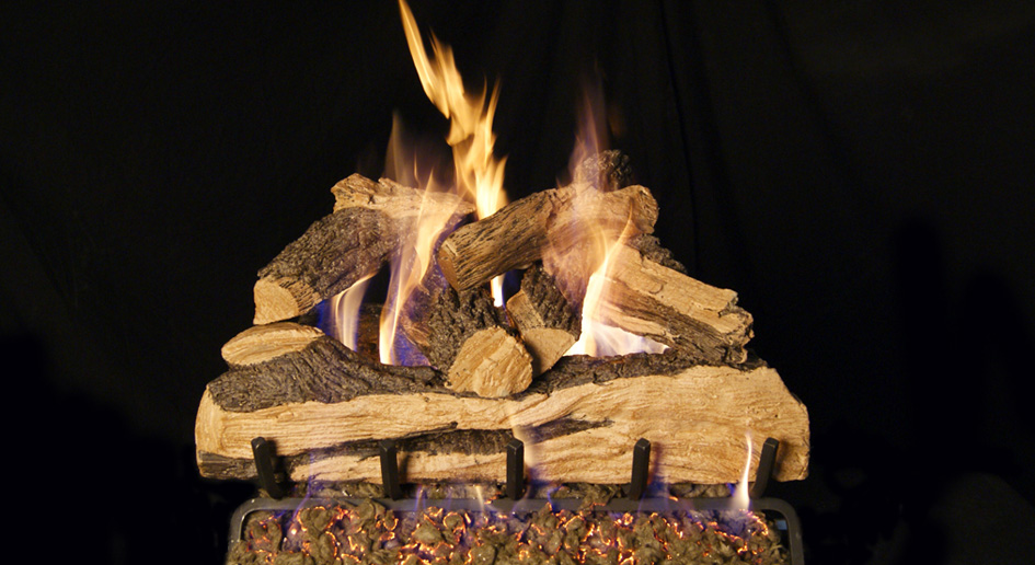 Gas Log Sets are logs that go into an existing masonry or zero-clearance fireplace.