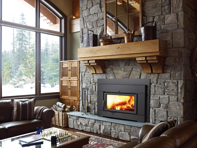 Wood Inserts are inserted into existing masonry or Zero-Clearance fireplaces.