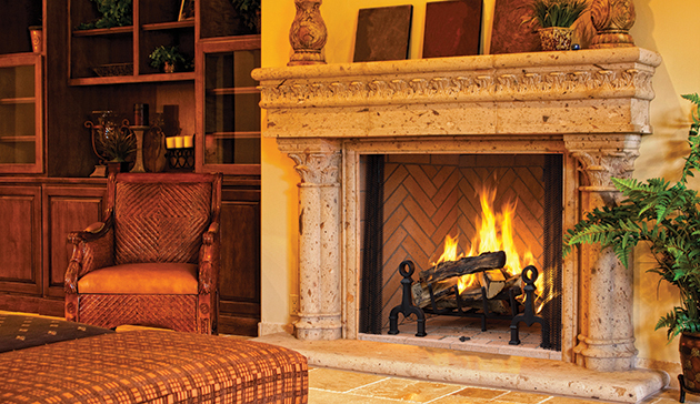 IHP Astria Open and Closed Zero-Clearance Wood Burning Fireplaces