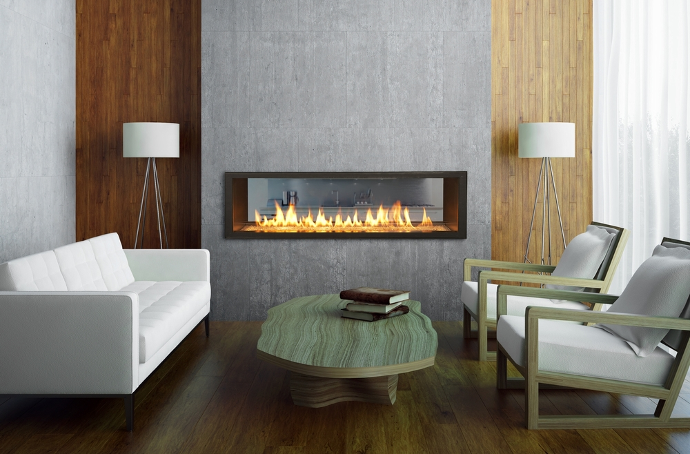 Fireplace Design see thru fireplace : Town & Country Contemporary Gas Fireplaces — Valley Fire Place Inc.