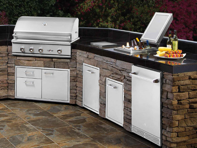 Barbecues valley fire place inc for Drop in cooler for outdoor kitchen
