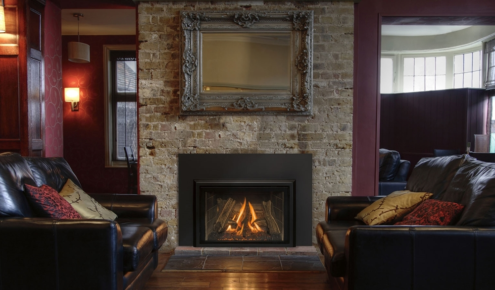 Gas Inserts are units that go into existing masonry or zero-clearance fireplaces.