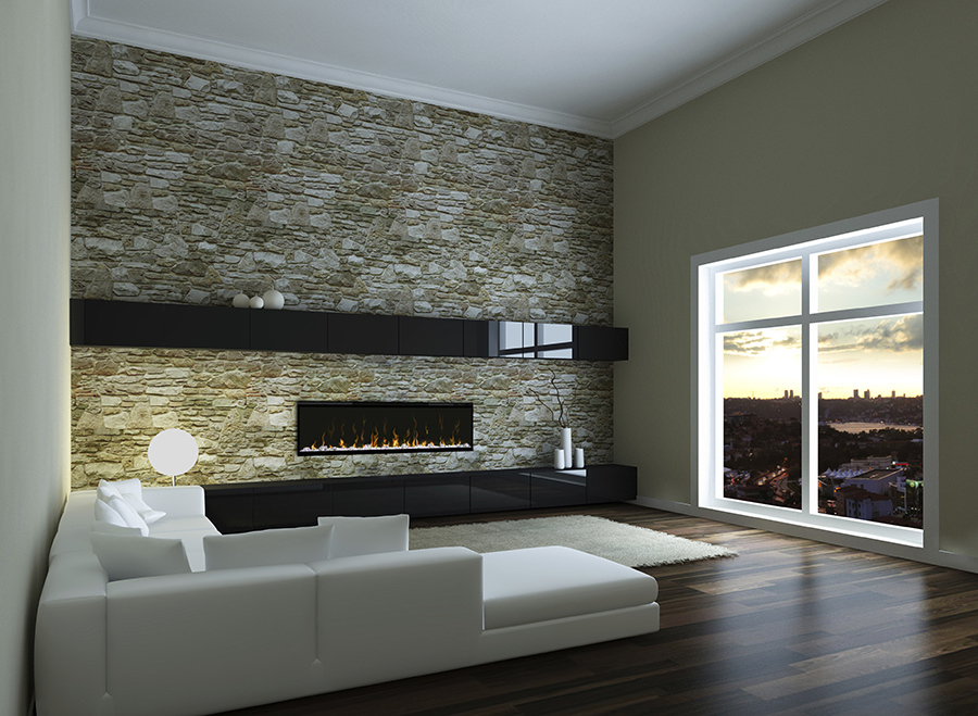 Dimplex has electric inserts, fireplaces, wall-hanging, and opti-myst (vapor based).