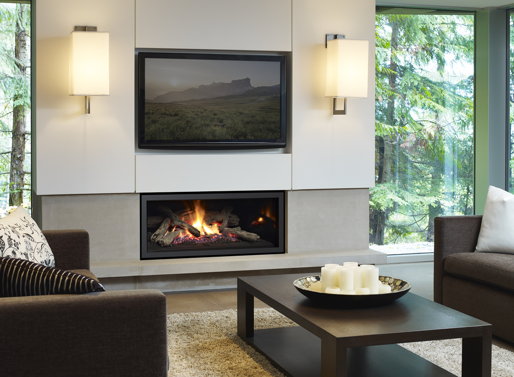 Regency contemporary gas fireplaces valley fire place inc for Contemporary propane fireplace