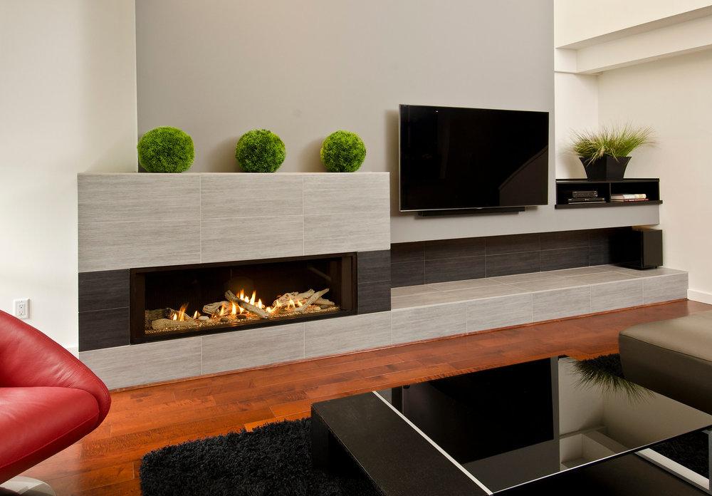 Valor's Contemporary Gas Fireplaces