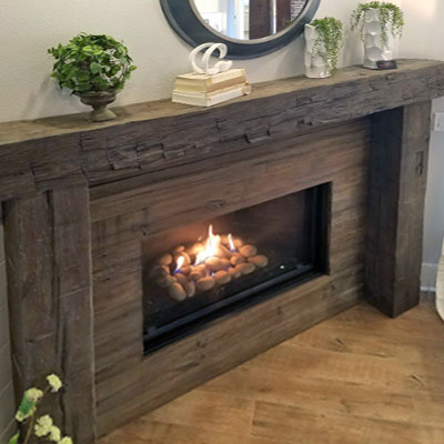 MagraHearth Post & Beam Mantel Surround