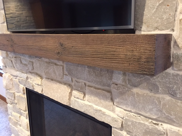 MagraHearth Natural Wood Look Mantel Shelf