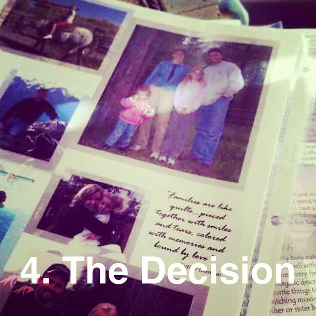 #btgadoption   4. The Decision. For me the REAL decision came in choosing a family. What an impossible task. I poured over so many profiles, so many families. Who was I to deem one family worthy of a child and another not?! I did not want that power. It weighed so heavily on my heart! But since the time that I knew for sure I have never regretted my decision on   the family and I have never questioned their actions. I knew they needed a boy in the house of girls. I think often of the woman that I didn't pick. She has stayed with me. I pray that she has peace in her heart and another child in her arms.