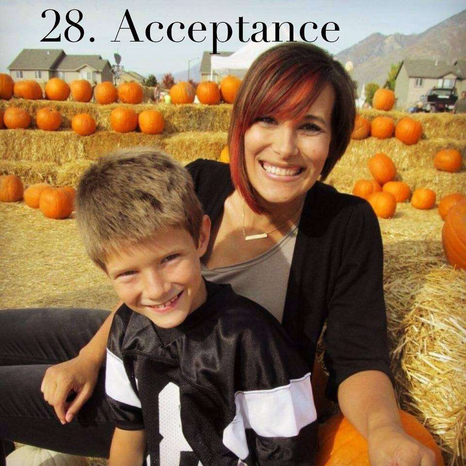 #btgadoption 28. Acceptance. Adoption is so wonderfully weird. I sit daily looking at my life, at what it has become and just shake my head in disbelief. I had the opportunity to have my birth son and his family in my home a few weeks ago. As he drove away and we stared at each other the reality of my life hits me like a brick wall. This amazing kid is my blood. He is a part of me. His family is forever part of my life. This is not ever anything that I planned for myself, this is not what I expected or wanted. It has been painful and challenging but this is the path I chose...this is my life. There are things about this journey that I wouldn't change for anything. Finding acceptance for my life regardless of feelings and thoughts of family, friends, community or others has brought a great peace to my life. This is my life. I can't change where I have been, I can't control so many things about this adoption journey, and I don't know where I am going from one day to the next but at the end of the day I own who I am. Adoption is so wonderfully weird, and I accept that.