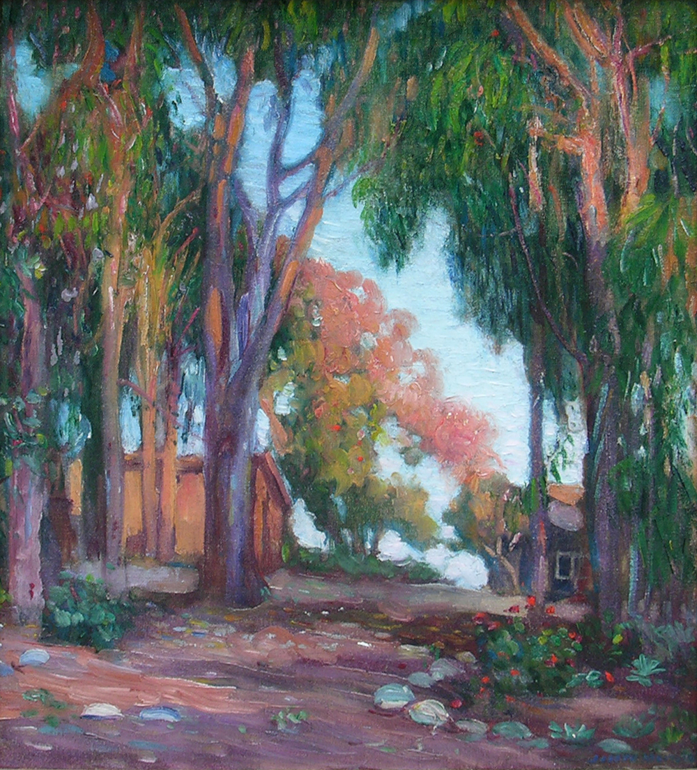 View to the Sea, Laguna Beach   / Oil on Canvas, 21.5 x 19.125 in.  Available at George Stern Fine Arts