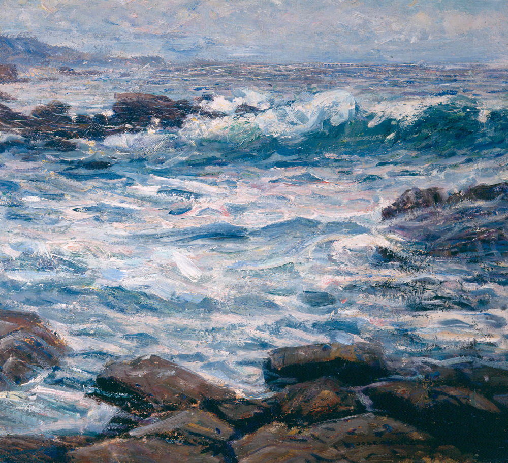 "Laguna Wave  s / Oil on Canvas, 18"" x 20"" / Private Collection"