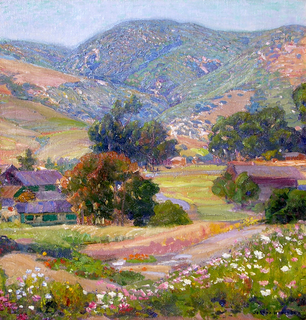Jeweled Hills   / Oil on Canvas, 26 x 24 in.  Private Collection