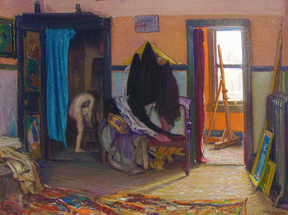 Studio Interior   / Oil on Canvas, 30 x 40 in.  Private Collection