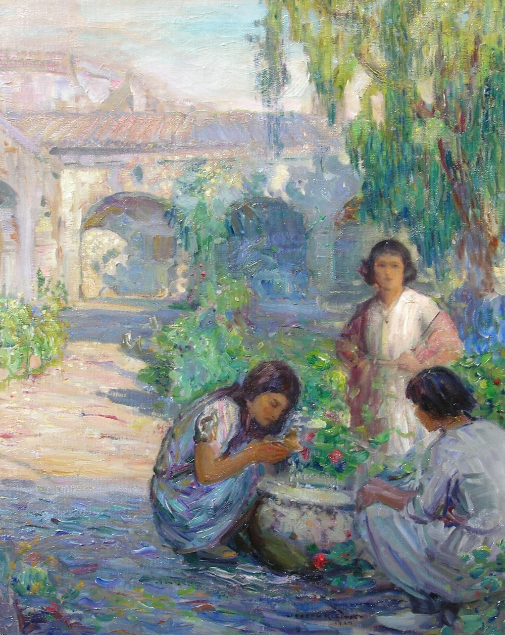 Children of Capistrano   / Oil on Canvas, 30 x 24 in.  Private Collection
