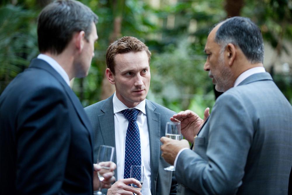 NIIT Technologies champagne reception