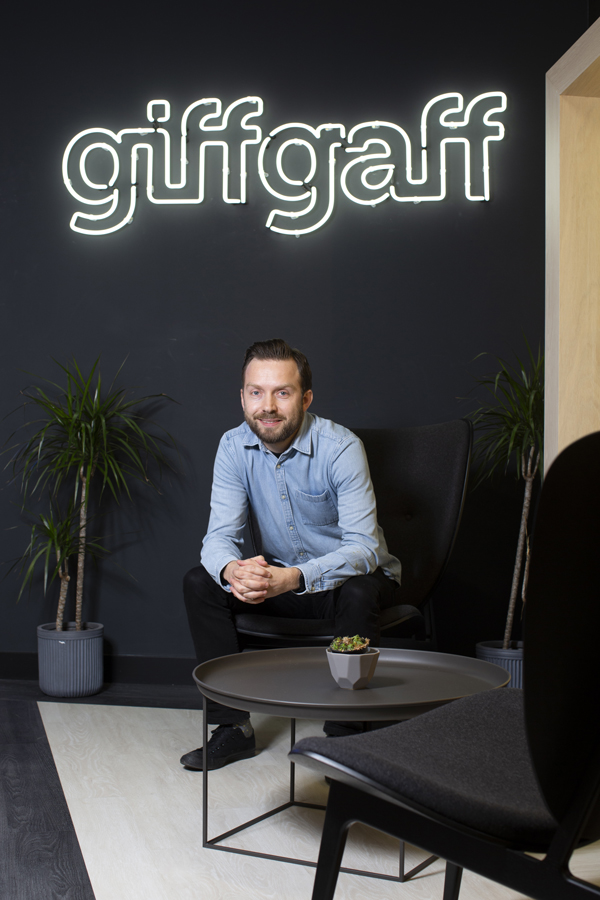 Alistair at the GiffGaff offices