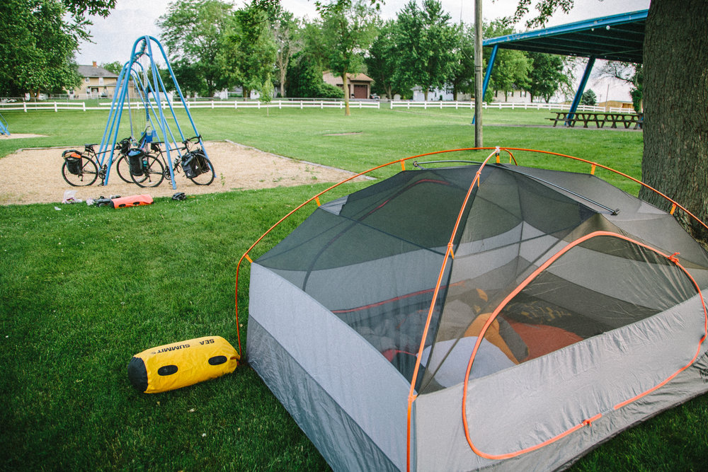 This has to be one of the roomiest 3-person tents out there. Seriously, there's so much room for two people and gear. Odell, IL