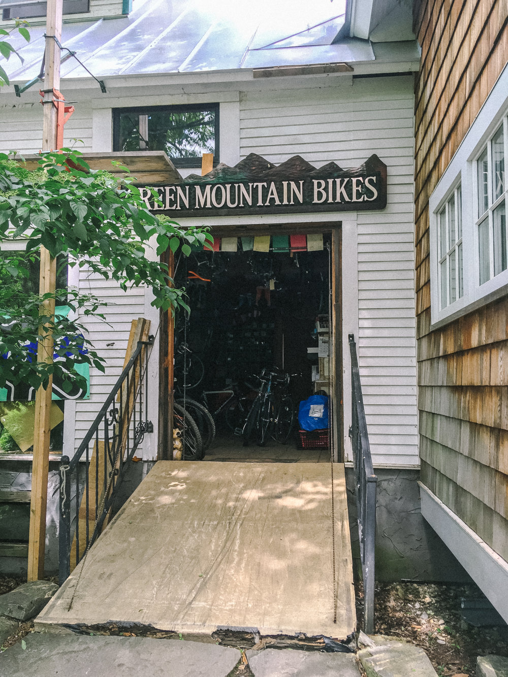 Most fortified bike shop ever. Rochester, VT