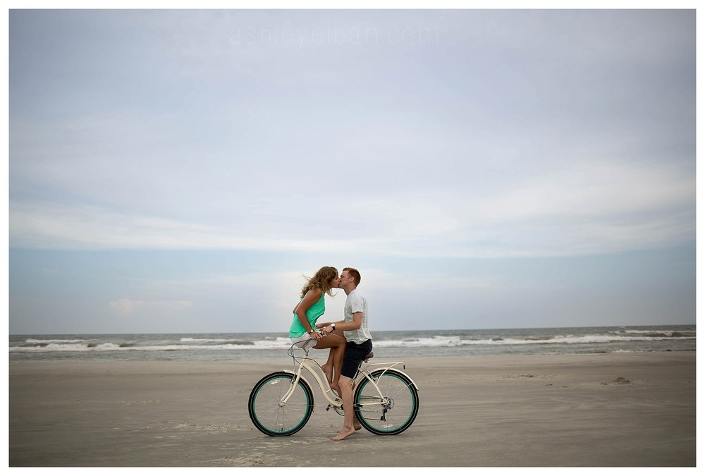 Sunset Beach Wedding and Portrait Photographer || Sunset Beach North Carolina || Beach Engagement Session || www.ashleyeiban.com