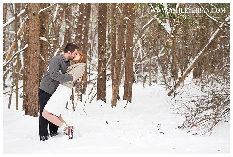 Central VA Elopement Photographer || Lynchburg VA wedding photographer || Snowy Elopement || Ashley Eiban Photography || www.ashleyeiban.com