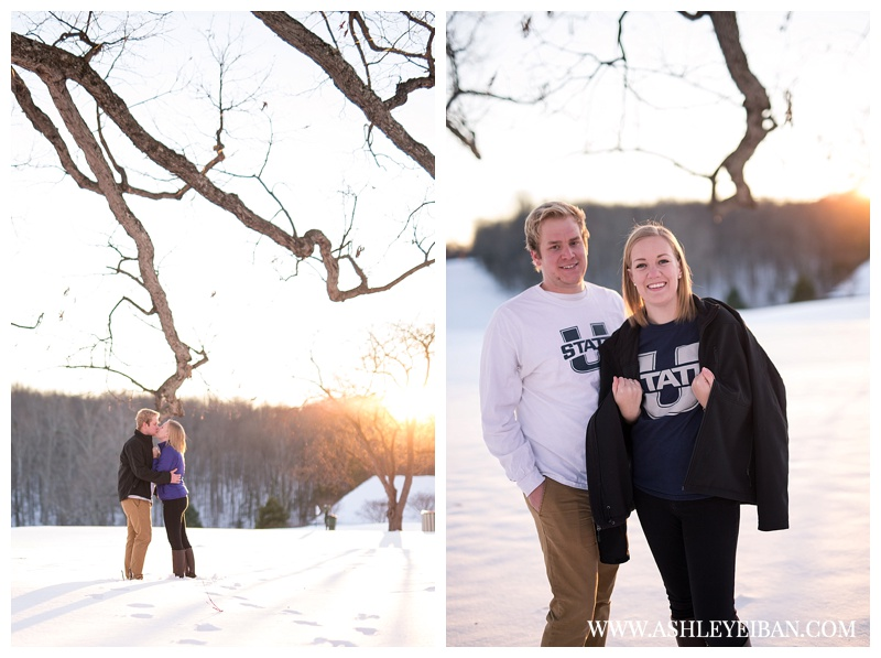 Lynchburg Virginia Engagement Session || Snow Engagement Session || Boonsboro Country Club || Lynchburg Wedding Photographer || Ashley Eiban Photography || www.ashleyeiban.com