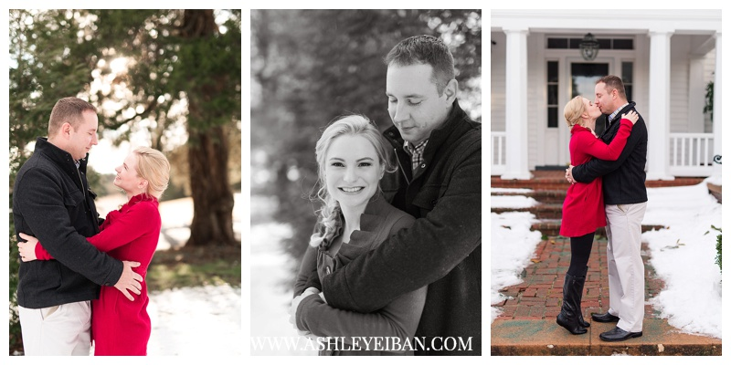 Winter Engagement Session || The Trivium Estates in Forest, Virginia || Lynchburg, VA Wedding Photographer || Ashley Eiban Photography || www.ashleyeiban.com